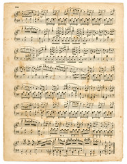 vieille partition de musique