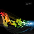 abstract motion graphic background - flames 2