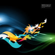 abstract motion graphic background - flames