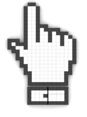 hand mouse symbol, 3d illustration