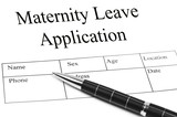 Maternity Leave Application poster