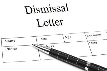 Dismissal letter