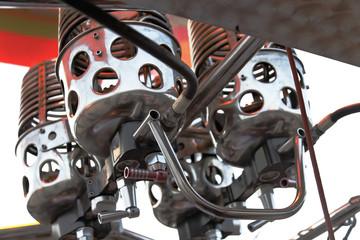 hot air ballooon engine controls jets