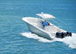 Fishingboat Powered by Three Outboard Engines - 34170058