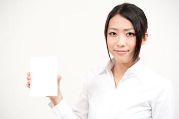 a portrait of asian waitress