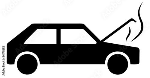 auto piktogramm motor motorschaden symbol defekt panne. Black Bedroom Furniture Sets. Home Design Ideas