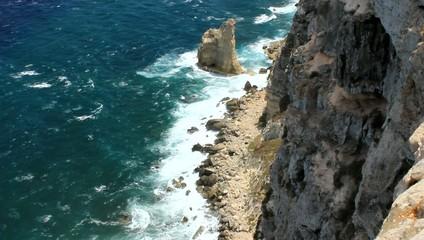 Vista dei Faraglioni da 135m - Lampedusa, Italy