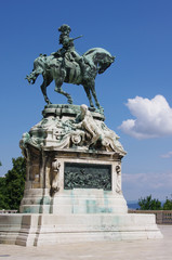 Prince Eugene of Savoy - statue  in Budapest (Hungary).