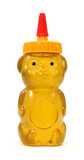Honey in plastic bear container