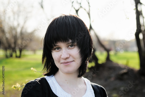 Portrait of a spring funny young woman
