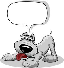 милый пес мультфильм и говорить пузырь