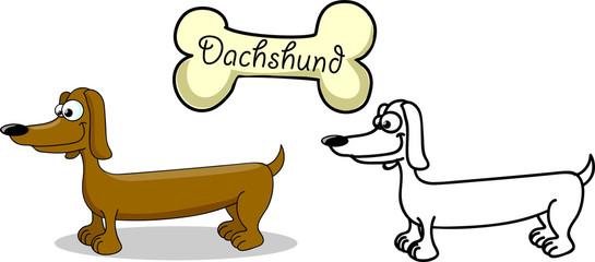 Мультфильм собака породы такса