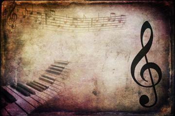 Texture musicale retrò