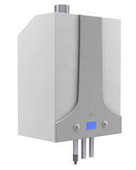 Gas boiler isolated on a white background