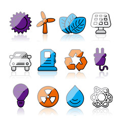 shiny energy icons