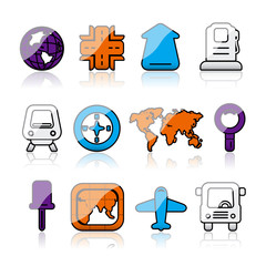 shiny gps map icons