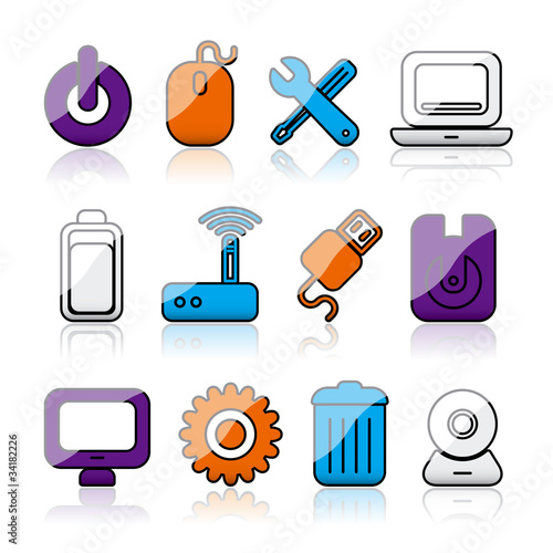 shiny computer icons