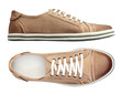 Male shoes over white, with clipping path