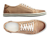 Fototapety Male shoes over white, with clipping path