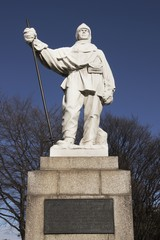 Statue of Robert Falcon Scott in Christchurch, New Zealand