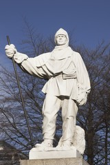 Statue to Robert Falcon Scott in Christchurch, New Zealand