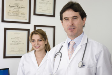Friendly Doctor And Assistant
