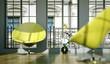 Wohndesign - grüne Sessel im Loft