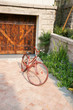 Old bicycle in yard