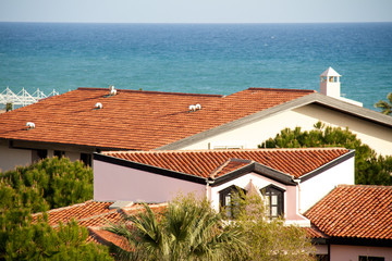 Luxury residences along Mediterranean sea in Turkey