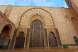 Ornate door on Hassan II Mosque Morocco
