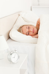 Portrait of a woman sleeping