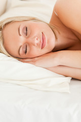 Portrait of a quiet woman sleeping