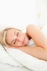 Portrait of a calm woman sleeping