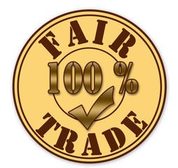 "Stamp  ""fair trade"""