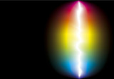 Fototapety Vector background of color spectrum around lightning