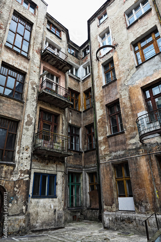 Old Houses In Lodz Poland Stock Photo And Royalty Free Images On Pic 34191031