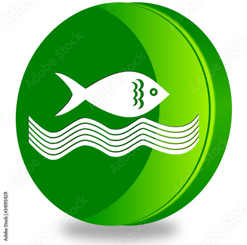 Fishing glossy icon