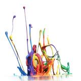 Colorful paint splashing isolated on white - 34194404