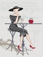 Lady in bar