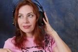Redhead with Headphones