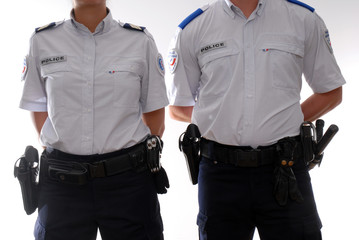policier, policiere intervention ADS, adjoint de securite