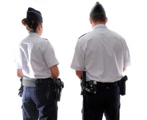 policier, policiere intervention