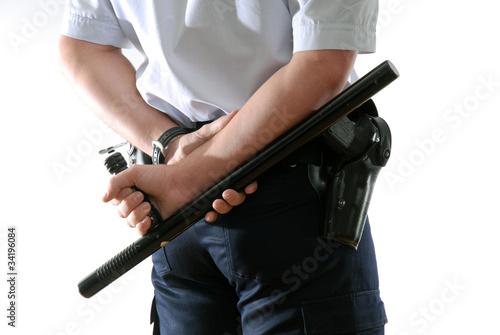 policier tonfa arme sécurité