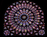Stained glass window in Notre dame - 34196658
