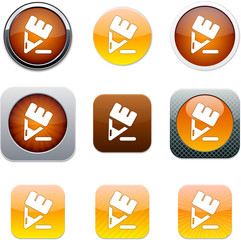 Pencil orange app icons.