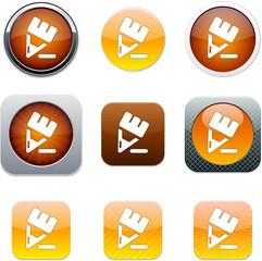 Pencil orange app icons.
