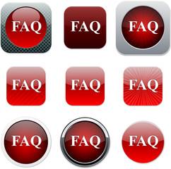 FAQ red app icons.