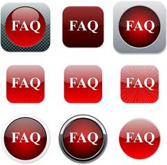 FAQ red app icons.