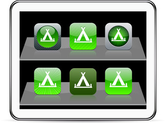 Tent green app icons.