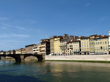 Florence - buildings along the Arno River poster